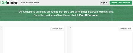 DiffChecker. Trouver les différences entre deux textes - Les Outils du Web | La boîte à OuTICE | Scoop.it