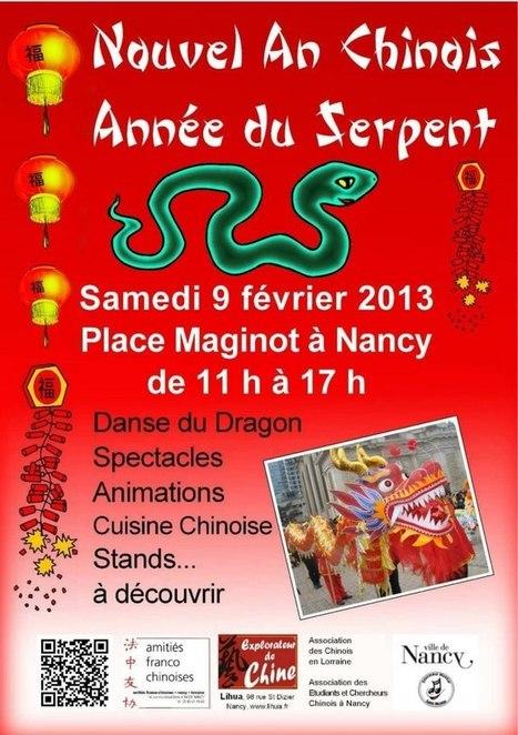 Nouvel an chinois année du serpent à Nancy | MaxévilleTV | Nouvel An Chinois 2013 à Nancy Année du Serpent le 9 février de 11h à 17h place Maginot à Nancy | Scoop.it