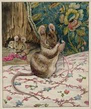 Helen Beatrix Potter, 'The Mice at Work: Threading the Needle' c.1902 | PARATEMPOS | Scoop.it