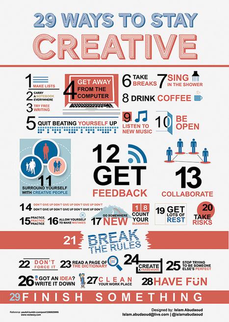"""29 Ways to Stay Creative"" in Random   Visual   Scoop.it"