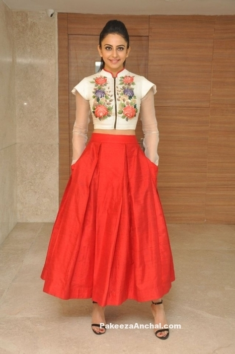 Rakul Preet Singh in Embroidered Crop Top and Skirt by Parul J Couture | Indian Fashion Updates | Scoop.it