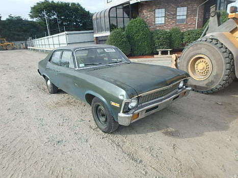 Salvage 1971 green Chevrolet Nova with VIN 113691W225113 on auction | VEHICLES on Auction | Scoop.it