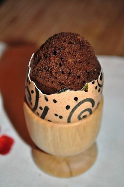 Oeuf surprise (gâteau cuit dans un oeuf) | A table ! | Scoop.it