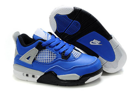 Michael air Jordan 4- Eminem Blue/Grey/Black Kids Youth Sport Shoes | my love list | Scoop.it