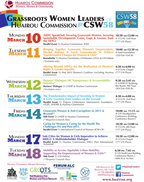 Join Grassroots Women Leaders of the Huairou Commission at CSW58 | Huairou Commission | Gender Water and Development | Scoop.it