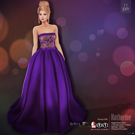 Katherine Purple Gown Group Gift by PurpleMoon | Teleport Hub - Second Life Freebies | Second Life Freebies | Scoop.it