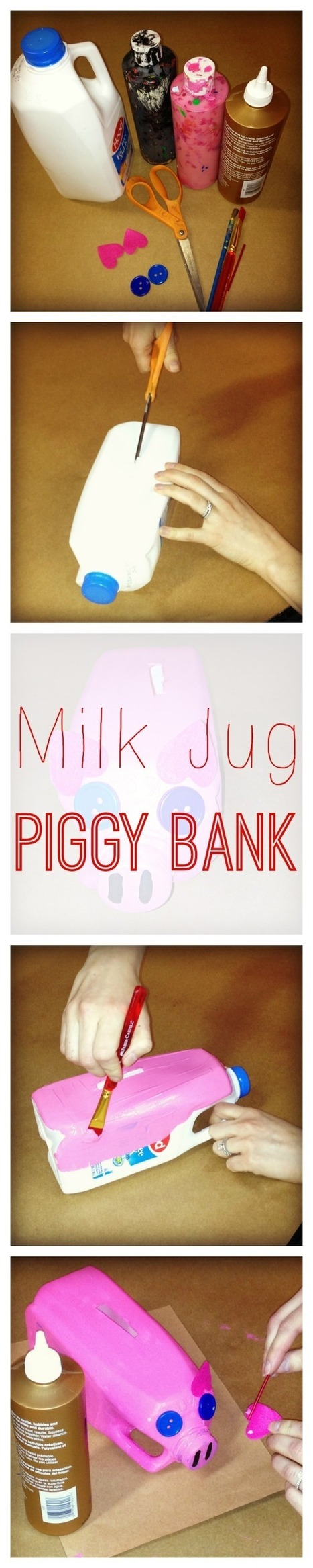 WeeWork Kids Crafts: Milk Jug Piggy Bank - Upcycled Craft ... | Top 10 Summertime Kids Crafts | Scoop.it