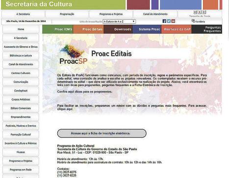ProAC recebe mais de 5 mil projetos - DE JUNHO A NOVEMBRO - MAIS CRUZEIRO | BINÓCULO CULTURAL | Monitor de informação para empreendedorismo cultural e criativo| | Scoop.it
