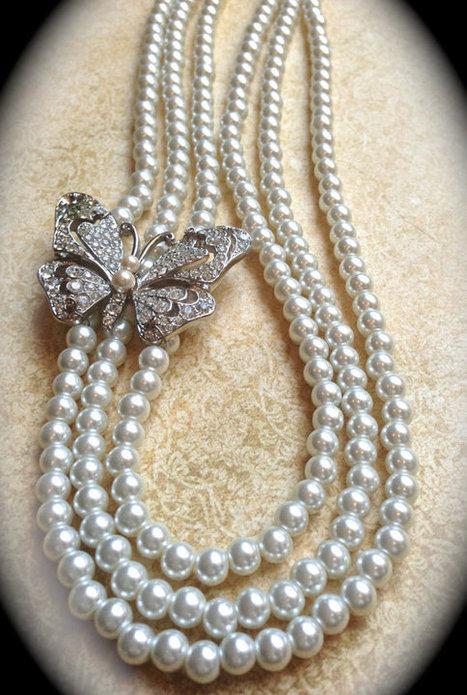 Vintage pearl necklace   vintage jewelry   Scoop.it