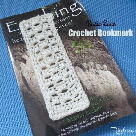 Basic Lace Crochet Bookmark - CrochetN'Crafts | Free Crochet Patterns | Scoop.it