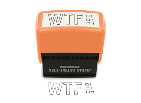 WTF Self-Inking Stamp | All Geeks | Scoop.it