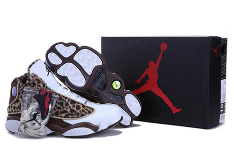 Retro air jordan 13 with brown/leopard-white colorway | my want collection | Scoop.it