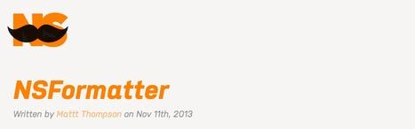 NSFormatter: Conversion is the tireless errand of software development. | iPhone and iPad development | Scoop.it