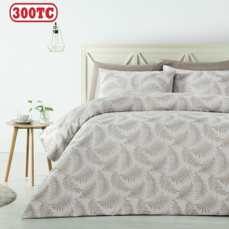 300TC Fern Latte Jacquard Quilt Cover Set by Accessorize - Manchester House | Soft Furnishings | Scoop.it