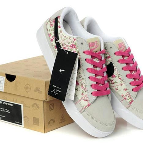 2014 Cool Nike Blazers Low Womens Grey Pink Flower UK Discount 2015 | uk-nike-blazer-shoes-low-flower-for-you | Scoop.it
