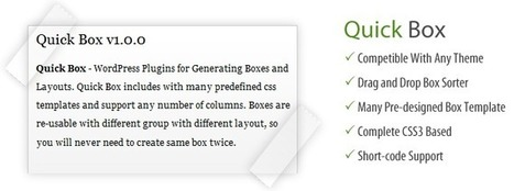 Quick Box - WordPress Plugins for Generating Boxes and Layouts - WP Eden | plugin | Scoop.it