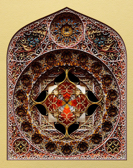 Complex architectural laser cut paper art by Eric Standley | Paper is beautiful | Scoop.it
