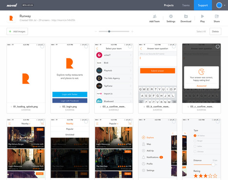 Free mobile & web prototyping (iOS, iPhone, Android) for designers – Marvel | Web mobile - UI Design - Html5-CSS3 | Scoop.it