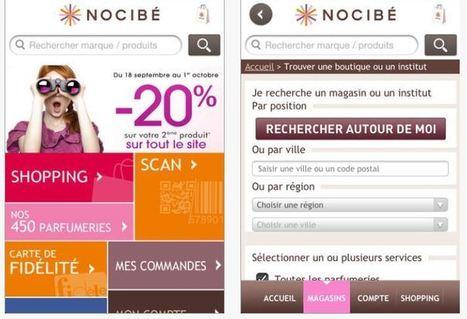 Appli mobile: Nocibé fait peau neuve   E-commerce, M-commerce : digital revolution   Scoop.it