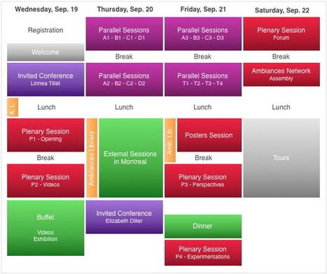 2nd Congrès International sur les Ambiances - Montréal 19-22 Sep 2012 - SciencesConf.org | DESARTSONNANTS - CRÉATION SONORE ET ENVIRONNEMENT - ENVIRONMENTAL SOUND ART - PAYSAGES ET ECOLOGIE SONORE | Scoop.it