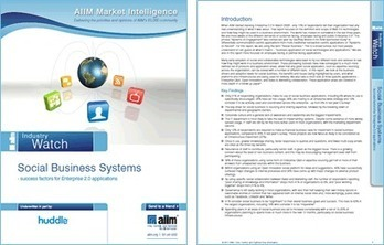 AIIM - Social business systems - success factors for Enterprise 2.0 applications | Research papers on Huddle.com | The entrprise20coil | Scoop.it