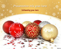 Free Christmas Balls PowerPoint Ttemplate | Free Powerpoint Templates | PowerPoint Presentation Library | Scoop.it