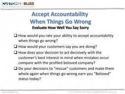 Accept Accountability When Things Go Wrong | Customer Experience | Scoop.it