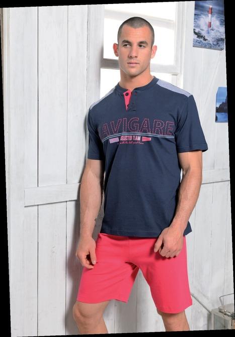 Pyjacourt Navy Navigare - TENUES D'INTERIEUR/Pyjacourts - roméo lingerie masculine   Homewear Homme   Scoop.it