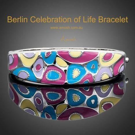 Berlin Celebration of Life Bracelet - Designed in Berlin this bracelet is made of multi-colored enamel and is - Vanuatu | Real Estate | Scoop.it