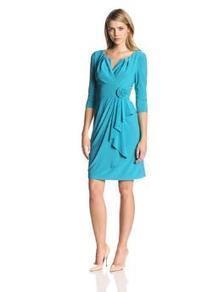 Adrianna Papell Women's 3/4 Sleeve Flower Side Gather Dress | btklwl | Scoop.it