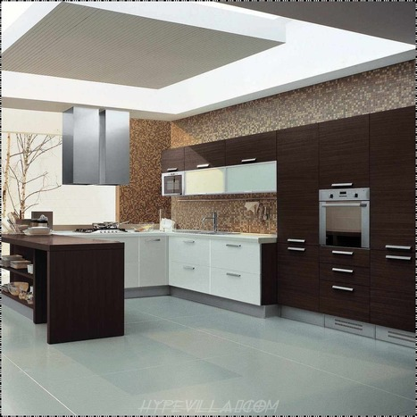 Stylish Mosaic Kitchen Wall With Awesome Wooden Kitchen Cabinets Home Design   Rhinway- home design   Scoop.it