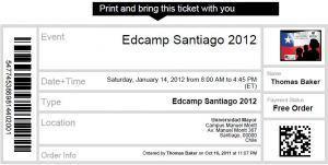 #Edcamp Santiago: Remember to bring your Ticket! ¡No olvides su ...   Unconference EdcampSantiago   Scoop.it