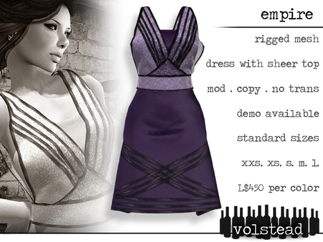 Empire Lilac Dress Wearable Demo Gift by Volstead | Teleport Hub - Second Life Freebies | Second Life Freebies | Scoop.it
