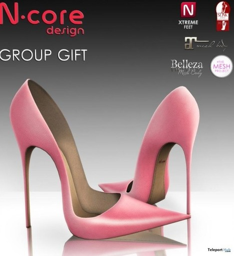 Pale Pink Stiletto Group Gift by N-Core   Teleport Hub - Second Life Freebies   Second Life Freebies   Scoop.it