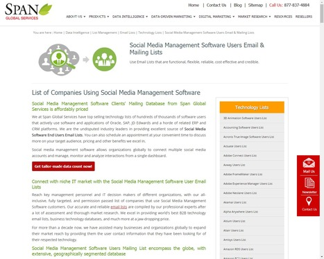 Buy Social Media Management Software using Companies from Span Global Services | Span Global Services | Scoop.it