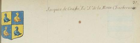 Châteauneuf et Jumilhac: Jacques de COUHÉ dans l'armorial d'Hozier | GenealoNet | Scoop.it