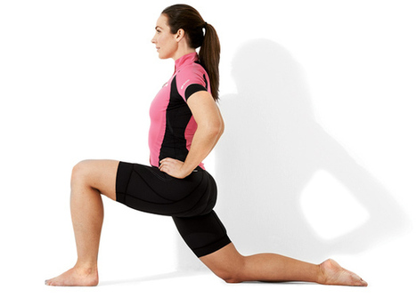 Hip Flexors Stretch: Cycling Stretches | Bicycling Magazine | Sprains and Strains and Arthritis | Scoop.it