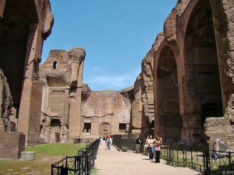 Terra Antica - The Baths of Caracalla: Where Ancient Romans Got Naked, Clean, And Well-Read | HotelRomanceRome | Scoop.it