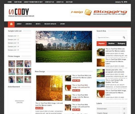 Cody Responsive Newspaper Blogger Template Free Download - help2blogging | Blogger themes | Scoop.it