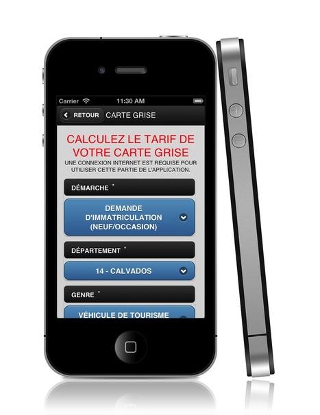 Application iPhone Carte Grise | Neo-CSI - Création de site Internet Caen Normandie-Paris | ComparateurCarteGrise.fr | Scoop.it