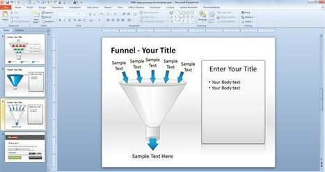 Free Funnel Diagram PowerPoint template with Steps | CMS | Scoop.it