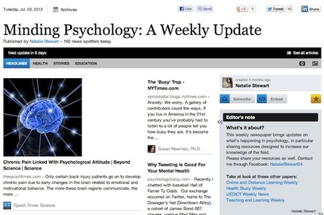July 3 - Minding Psychology: A Weekly Update | Psychology Professionals | Scoop.it