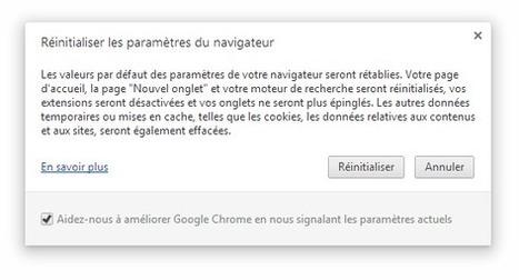 Comment réinitialiser les paramètres par défaut du navigateur Google Chrome ? | tutoriel,astuce,tech, geek....... | Scoop.it