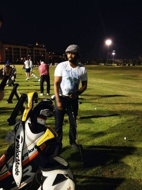(Photo) Lasith Malinga playing golf in UAE | Best of Island Cricket | Scoop.it
