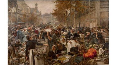 Les Halles - Le Ventre de Paris : La gigantesque toile signée Lhermitte revient à Paris | Nos Racines | Scoop.it