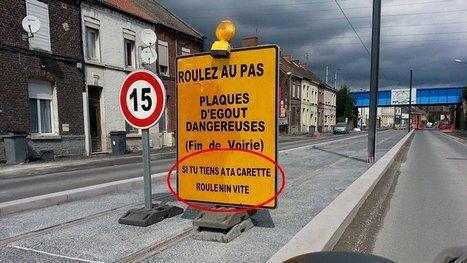 Bruay-sur-Escaut : de l'humour ch'ti sur les panneaux du chantier du tramway - France 3 Nord Pas-de-Calais | Merveilles - Marvels | Scoop.it