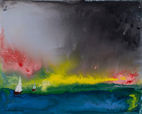 Andoreza Studios   Abstract painting with purpose   Beautiful Abstract Art from Andy Corp.   Scoop.it