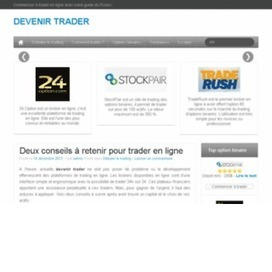 Devenir trader - Bourses/Finances - Site Web sur Next-Annuaire.fr | Option binaire | Scoop.it