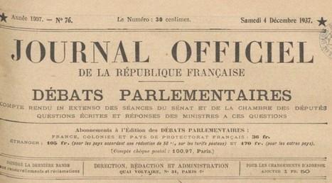 Accéder aux numérisations du Journal officiel de la République française (JORJ, de 1871 à nos jours - La boîte à outils des historiens | Nos Racines | Scoop.it