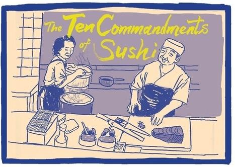 Artist Chie Ushio Illustrates The Ten Commandments of Sushi | @FoodMeditations Time | Scoop.it